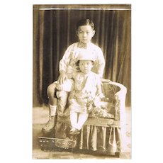 Cute old Studio Photo of Philippine Children. c. 1910