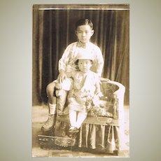 Cute old Studio Photo of Philippine Children. c. 1910
