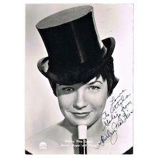 Shirley Mac Laine Autograph. CoA