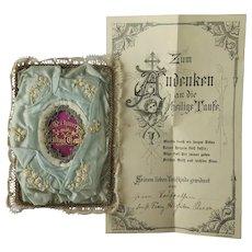 Attractive antique European Taufbrief c. 1890