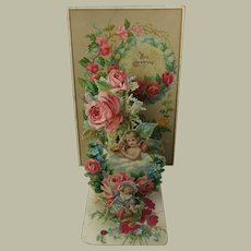 Delicate Victorian Cardboard-Card Four Layers