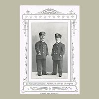Vintage Postcard with Twin Midgets