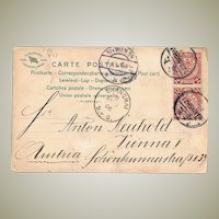 Imperial China Shanghai Postcard to Austria 1906