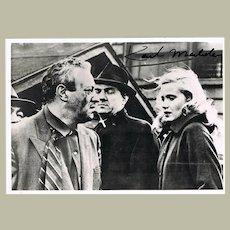 Karl Malden Autograph on b/w Movie Still from 1983. COA