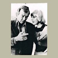 Elke Sommer Autograph on b/w Photo with David Janssen  CoA