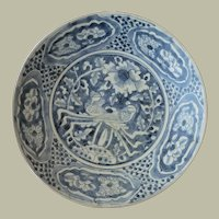 China Ming Dynasty Plate Blue White 17 ct