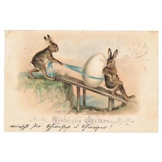 Old Easter Postcard Lithograph 1899
