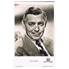Clark Gable Autograph. Hand signed Photo. CoA