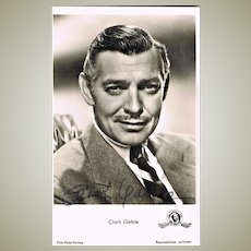 Clark Gable Autograph. Hand signed Photo. CoA
