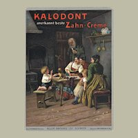 Advertising for Kalodont Toothpaste. Lithographed Card 1889
