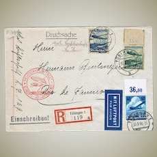 Zeppelin Mail to Rio de Janeiro LZ 129 from 1936 Mixed Franking