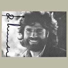 Mountaineer Reinhold Messner Autograph. CoA