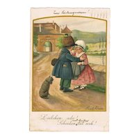 Two Romantic Pauli Ebner Postcards from 1929