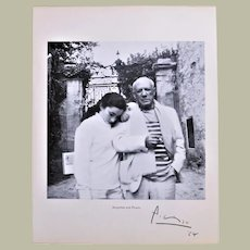 Pablo Picasso Autograph. Signed Page of Book 1964. CoA