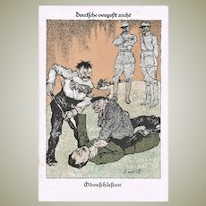 German Propaganda Postcard WWI Lindloff signed