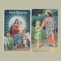 Two old Christmas Postcard in special Technique