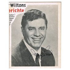 Jerry Lewis Autograph. Hand-signed Magazine Snippet. CoA