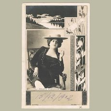 Meaty Fleuron: Art Nouveau Postcard from Paris