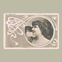 Art Nouveau Postcard Photo Reutlinger 1904