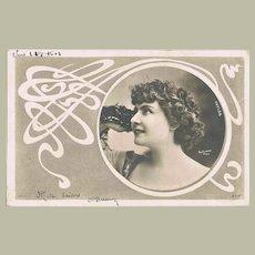 Art Nouveau Postcard Photo Reutlinger 1904