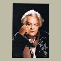Theo Adam Autograph. Signed Photo. CoA