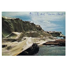 Christo and Jeanne Claude signed Wrapped Coast Project Photo CoA