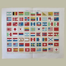 International Flags Chromo Lithograph 1898