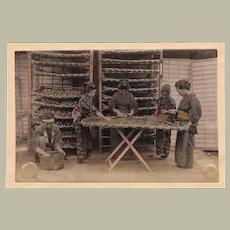 Japan: Tinted Albumen Photo. Ladies at Work