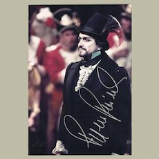 Ruggero Raimondi Autograph from 1985 with CoA