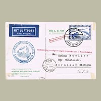 Zeppelin Mail 1929 2 Mark America Flight