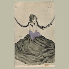 Raphael Kirchner Postcard Young Lady in Ball Gown