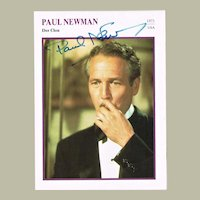 Paul Newman Autograph on large Trading Card 1973 COA