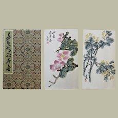 Album with 12 Wu Changshou Woodblock Prints Rong Baozhai 1959