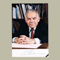 Yitzhak Shamir Isreal Premier Autograph Signed Photo CoA