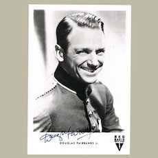 Douglas Fairbanks Jr. Autograph on Photo Postcard CoA