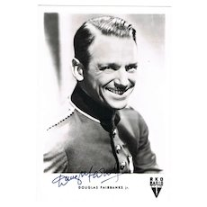 Douglas Fairbanks Jr. Autograph on Photo Postcard CoA