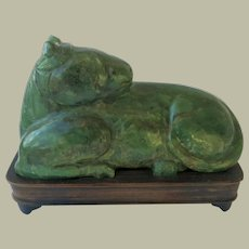 China Green Jade horse from Qing Dynasty
