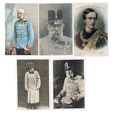 Emperor Franz Joseph Lot of 5 old Photos and Postcards