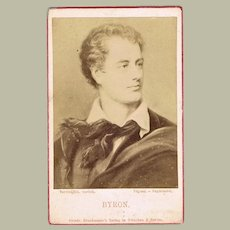 Lord Byron Old Photo CdV