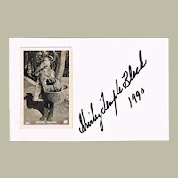 Shirley Temple Autograph and Photo