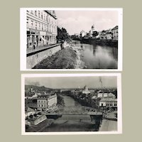 2 Vintage Postcards with Synagogue in Hungary