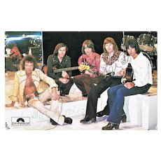 The Hollies Early Autographs on Old Polydor Postcard CoA