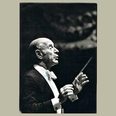 Conductor Erich Leinsdorf Autograph on Photo 1978