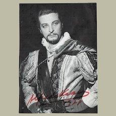 Alfredo Kraus Tenor Autograph from 1978. CoA