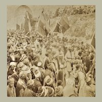 Muslim Pilgrims Jerusalem Palestine Stereo Photo from 1899