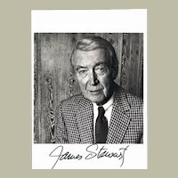 James Stewart Autograph on Portrait Photo with CoA