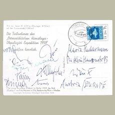 Himalaya Expedition 1959 with Fritz Moravec Autograph