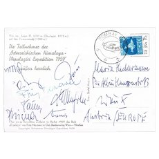Himalaya Expedition 1959 with Fritz Moravec Autograph