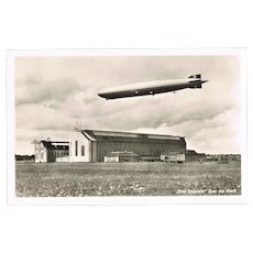Zeppelin Airship at Hangar Photo by Hoffmann WWII