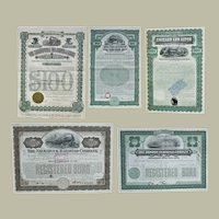 Lot of Five US Railroad Bonds 1897 – 1931